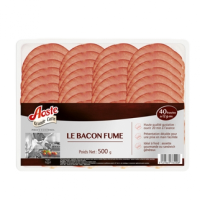 Bacon en tranches - 00014756 - Delice & Creation - Distributeur dedie aux artisans boulangers patissiers
