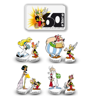 "Collection de feves ""60 ans d'Asterix"" - 00021597 - Delice & Creation - Distributeur dedie aux artisans boulangers patissiers"