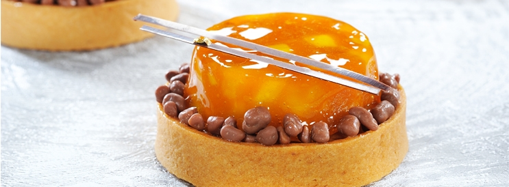 Tarte Tatin Mangue et the - 400122 - Delice & Creation - Distributeur dedie aux artisans boulangers patissiers